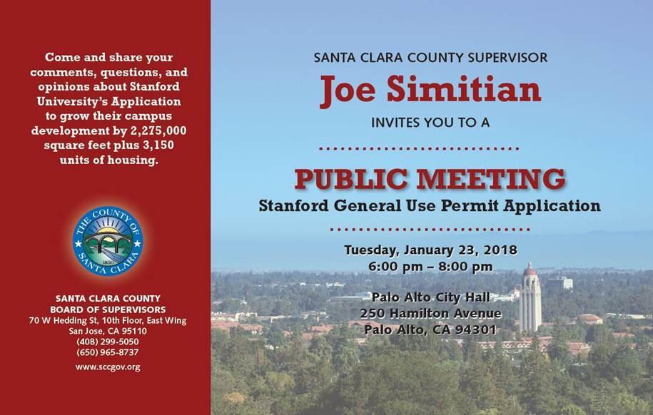 General Use Permit - Last Public Meeting in Palo Alto