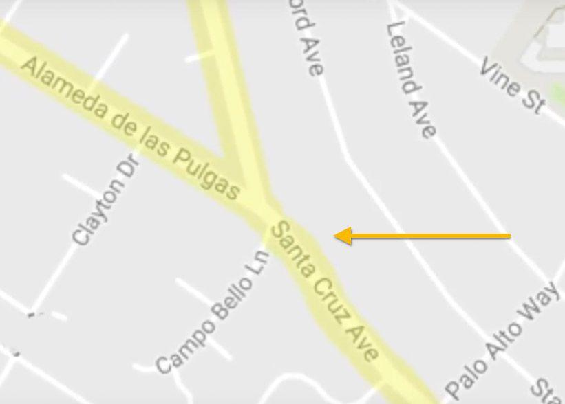 Northbound Santa Cruz Ave - Critical Safety Issues
