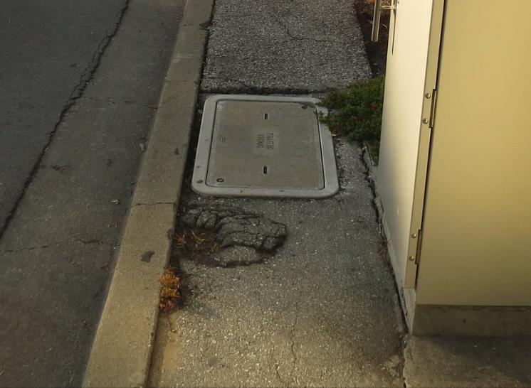 Sidewalk at Y - Dangerous
