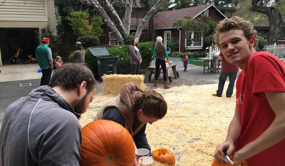 Neighborhood Pumpkin Carving, Parade, Potluck